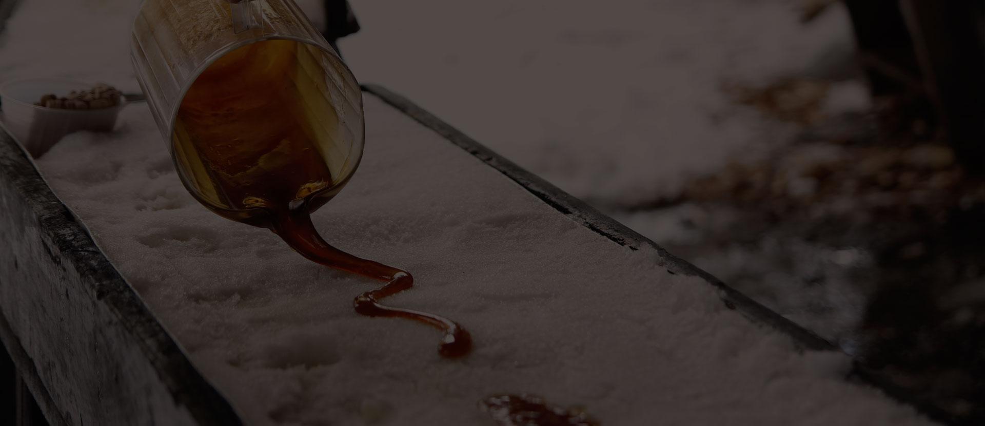 Tire d'érable- cabane à sucre rigaud