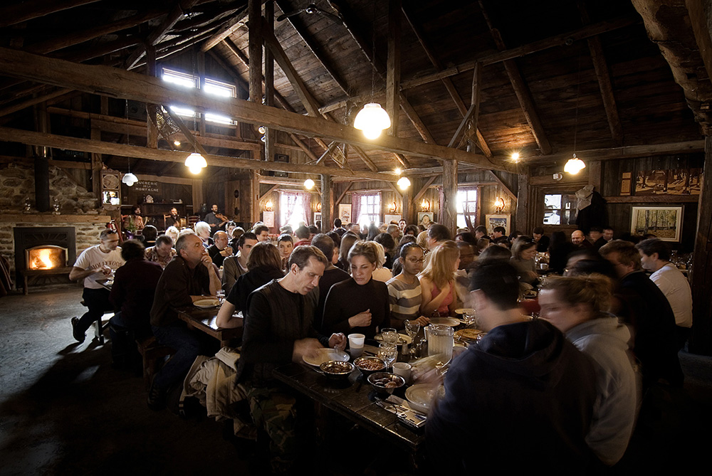 The main section of the shack can host well over 300 guests